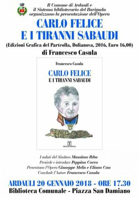 "Ardauli, terzo appuntamento ""Un thè con l'autore"". Ospite Francesco Casula"