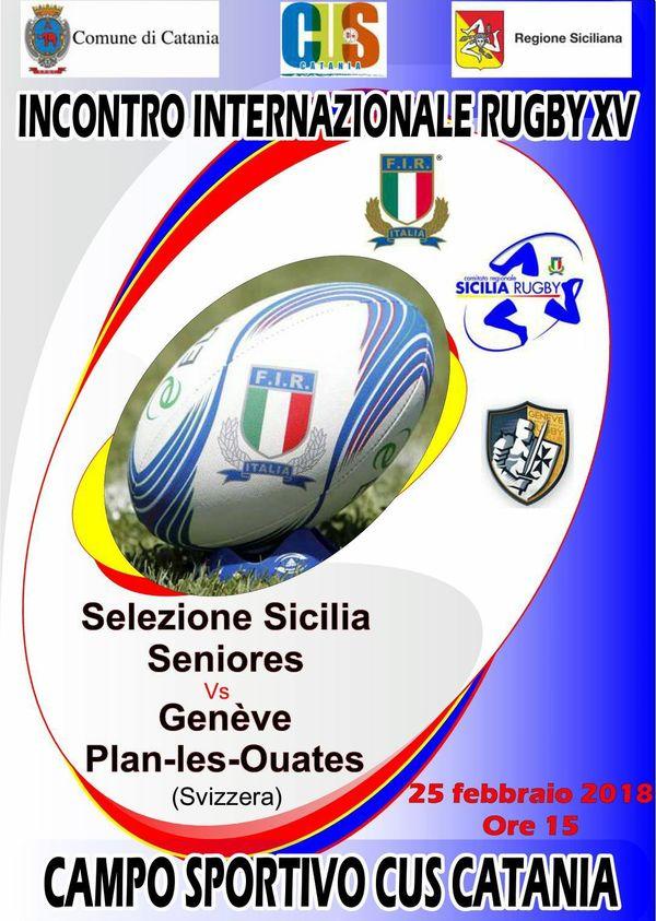 Federugby. Scalda i motori la Selezione Siciliana Seniores, I Rossogialli domenica 25 incontreranno  i pentacampioni elvetici del Genève Plan-les-Ouates