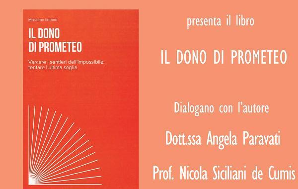 """Soverato. Il filosofo catanzarese Iritano presenta """"Il dono di Prometeo"""""""
