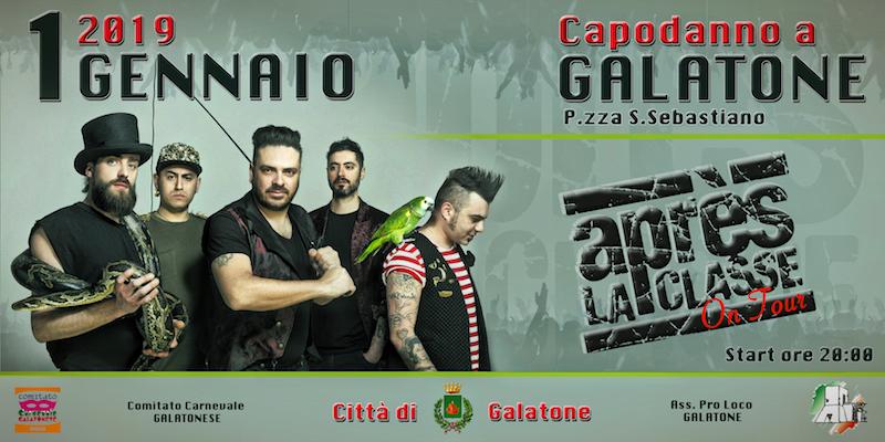 """Capodanno 2019 in piazza con gli """"Apres La Classe"""""""