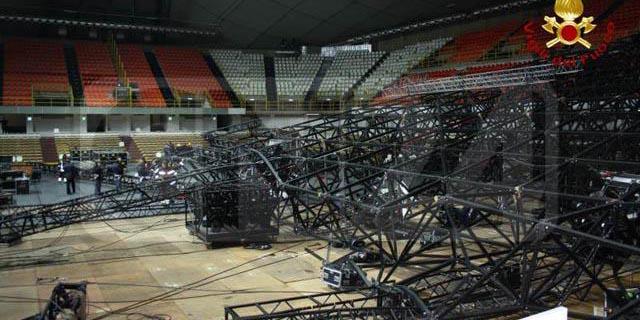 Crollo palco della Pausini, Appello conferma: condannati in cinque per la morte di un operaio