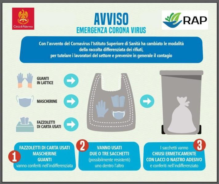Coronavirus, istruzioni per buttare mascherine, guanti e fazzoletti di carta