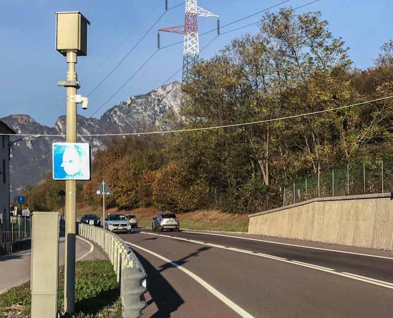 Nuovo rilevatore di velocità a Levego. Sarà in funzione 24 ore su 24 da domenica I° novembre